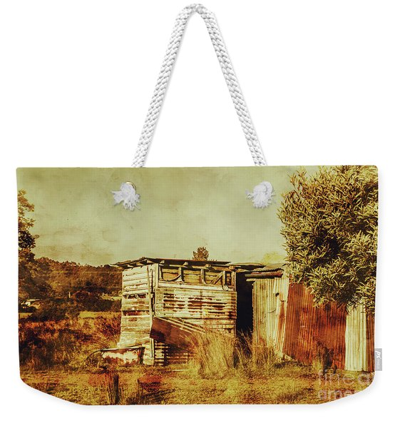 Wild West Australian Barn Weekender Tote Bag