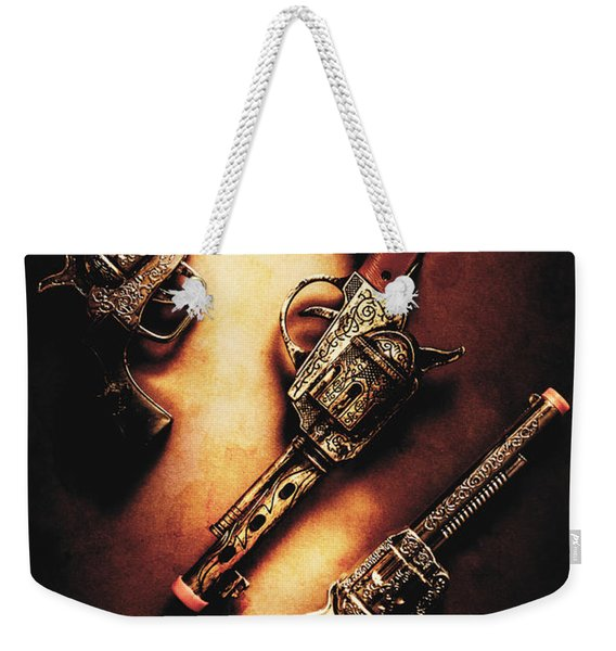 Wild West Cap Guns Weekender Tote Bag