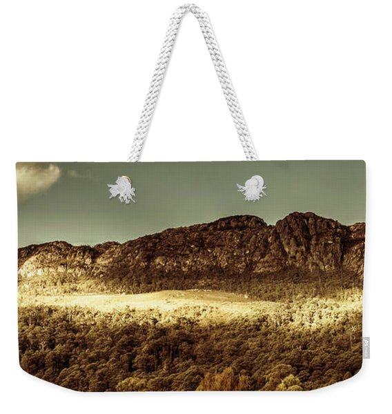 Wild West Mountain Panorama Weekender Tote Bag