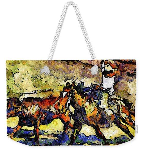 Wild Wild West Van Gogh Style Expressionism Weekender Tote Bag
