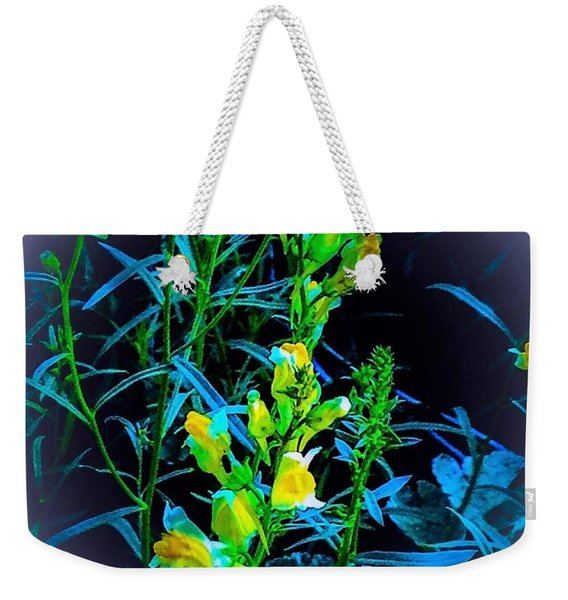 Wild Yellow Flowers In Misty Surround Weekender Tote Bag