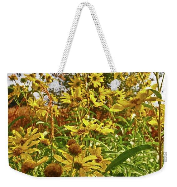 Wild Yellow Weekender Tote Bag