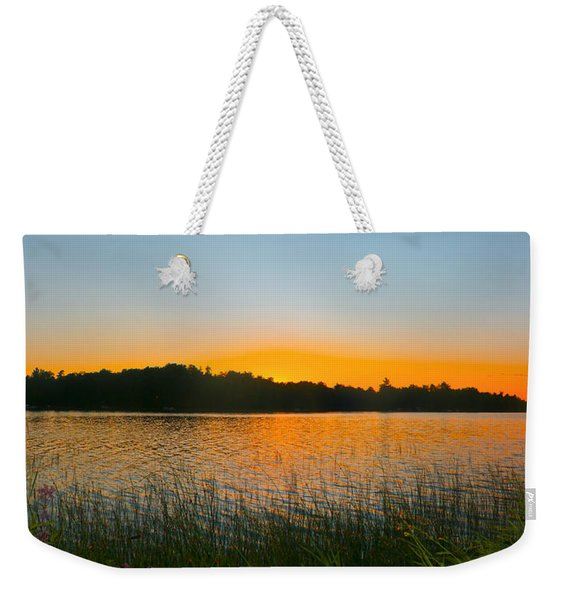 Wilderness Point Sunset Panorama Weekender Tote Bag