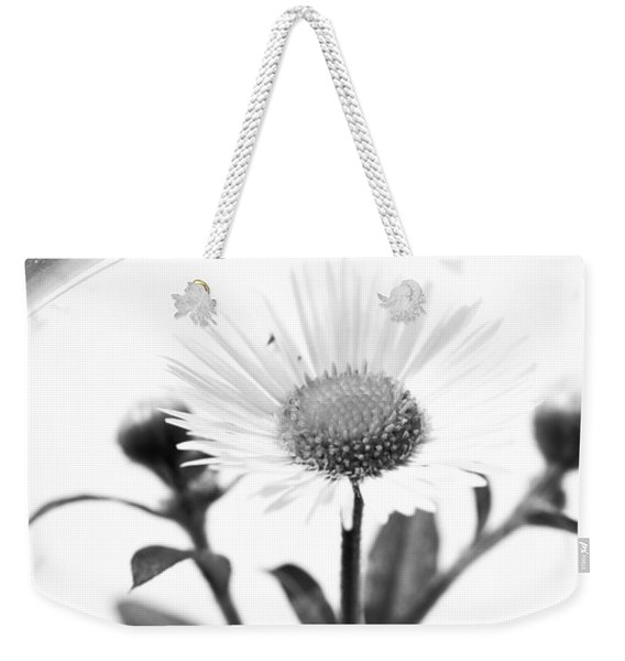 Wildflower In A Wine Glass Black And White Weekender Tote Bag