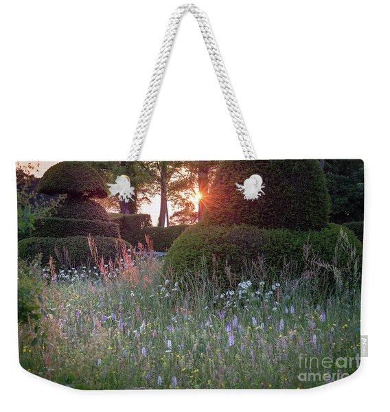 Wildflower Meadow At Sunset, Great Dixter Weekender Tote Bag