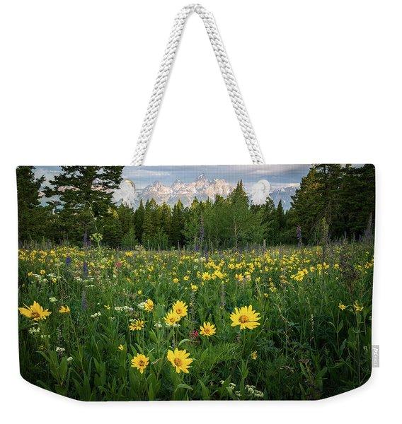 Wildflower Meadow In The Tetons Weekender Tote Bag