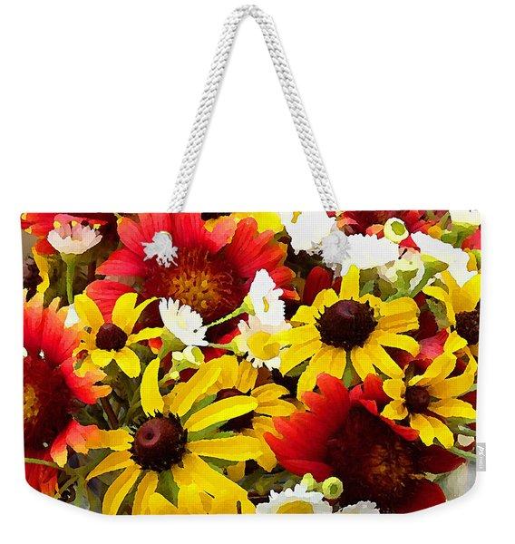 Wildflower Riot Weekender Tote Bag