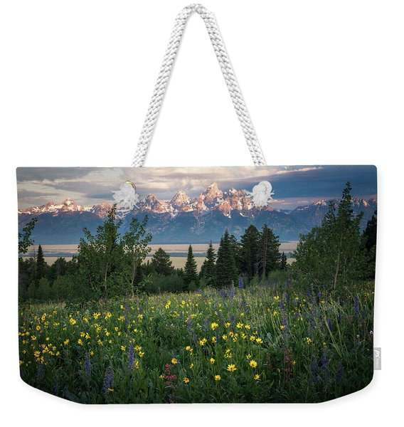 Wildflowers At Grand Teton National Park Weekender Tote Bag