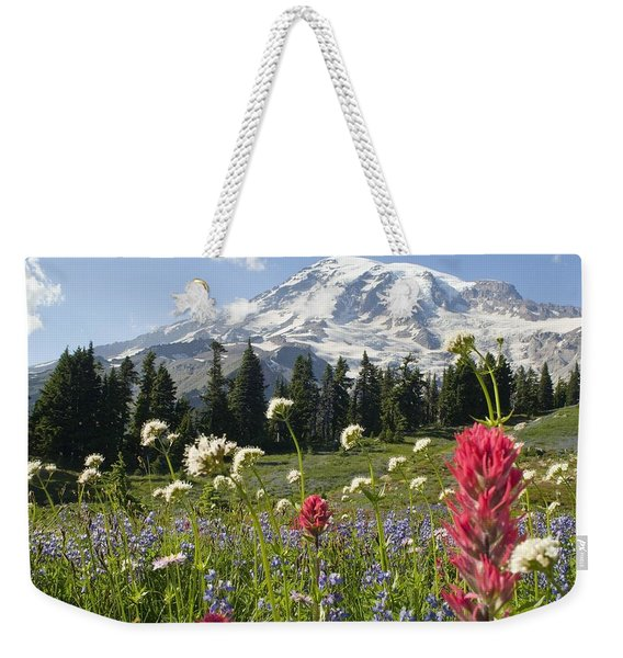 Wildflowers In Mount Rainier National Weekender Tote Bag