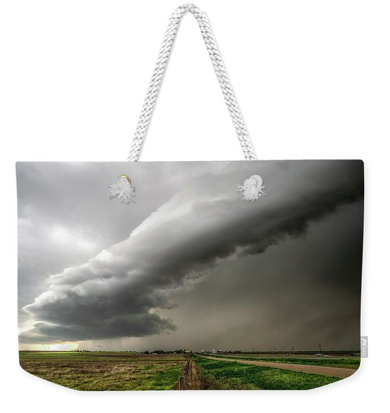 Weekender Tote Bag featuring the photograph Wildorado Storm by Scott Cordell