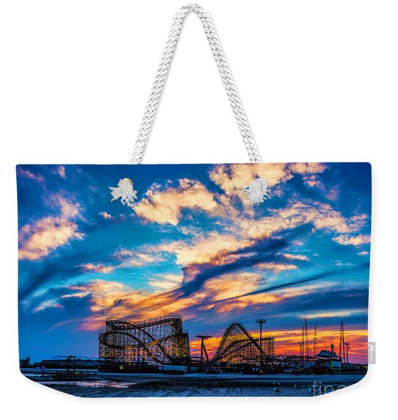 Wildwood Beach Sunset Weekender Tote Bag