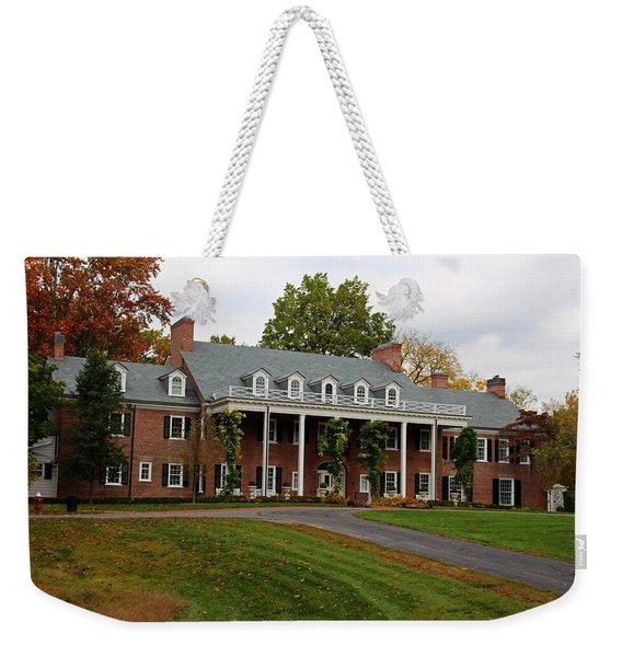 Wildwood Manor House In The Fall Weekender Tote Bag