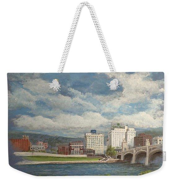 Wilkes-barre And River Weekender Tote Bag