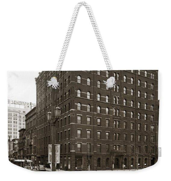 Wilkes Barre Pa Hollenback Coal Exchange Building Corner Of Market And River Sts April 1937 Weekender Tote Bag