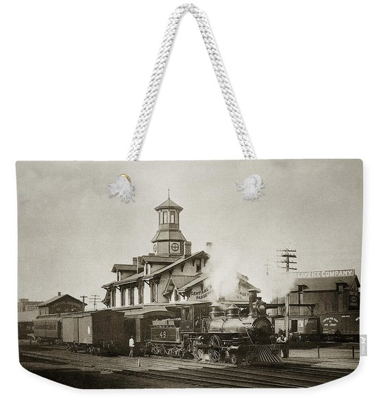 Wilkes Barre Pa. New Jersey Central Train Station Early 1900's Weekender Tote Bag