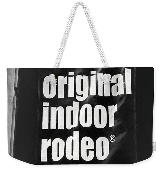 Will Rogers Rodeo Bw Weekender Tote Bag