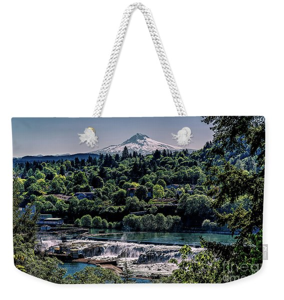 Willamette River Falls Locks Weekender Tote Bag