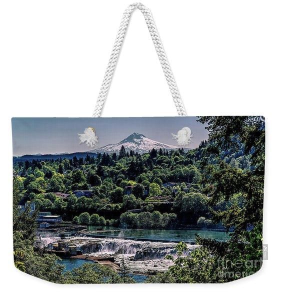 Willamette River Falls Locks Weekender Tote Bag