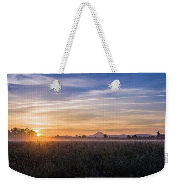 Willamette Valley Sunrise Weekender Tote Bag