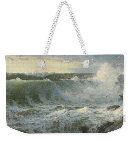 William Trost Richards American 1833  1905   Seascape Weekender Tote Bag
