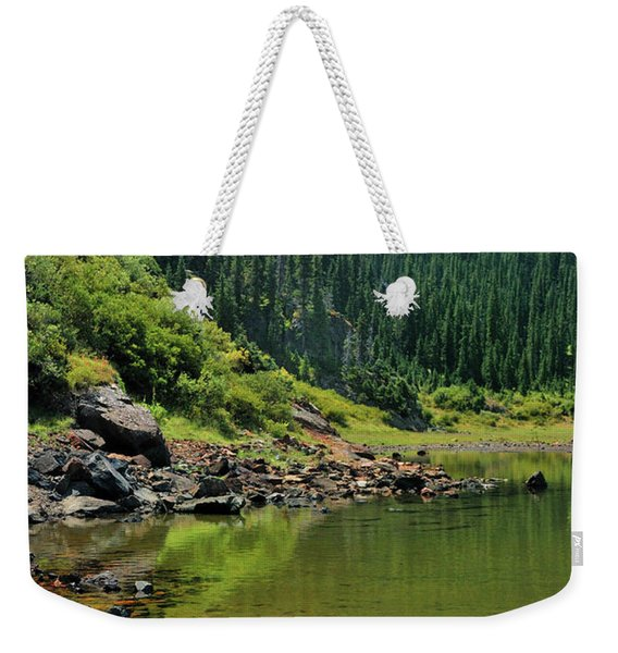 Weekender Tote Bag featuring the photograph Williams Lake by Ron Cline