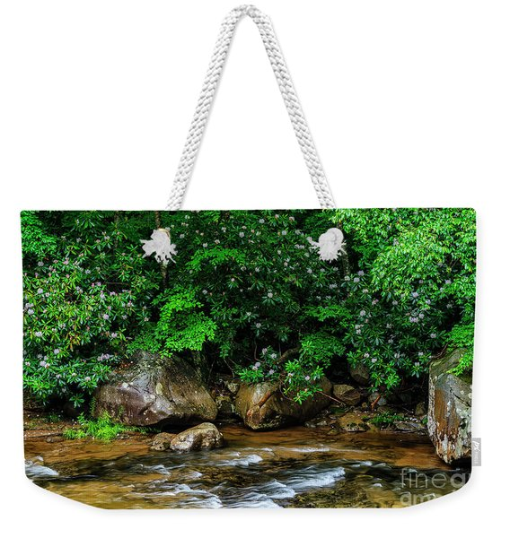 Williams River And Rhododdendron Weekender Tote Bag