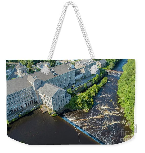 Willimantic River And Mill #2 Weekender Tote Bag