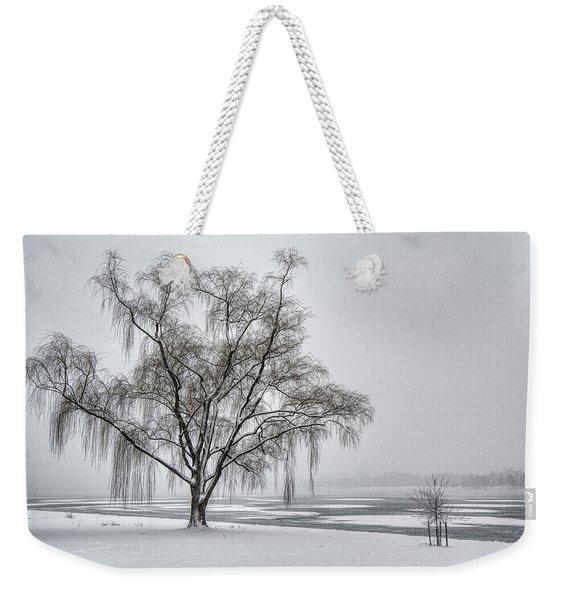 Willow In Blizzard Weekender Tote Bag