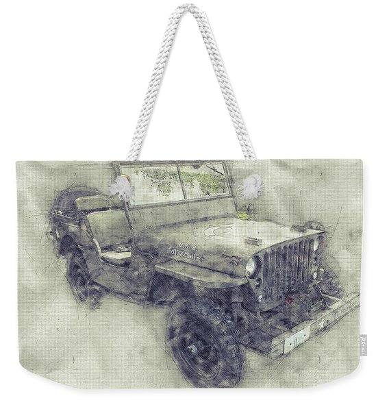 Willys Mb 1 - Ford Gpw - Jeep - Automotive Art - Car Posters Weekender Tote Bag