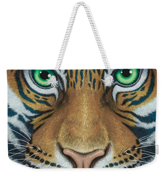 Wils Eyes Tiger Face Weekender Tote Bag