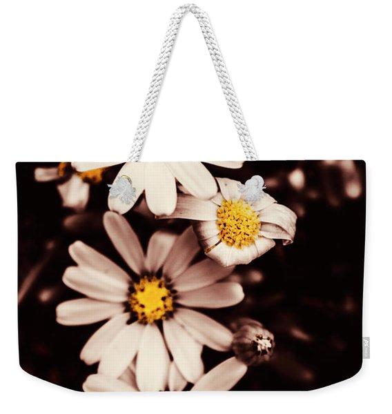 Wilting And Blooming Floral Daisies Weekender Tote Bag