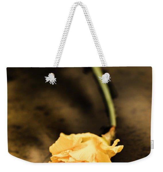 Wilting Puddle Flower Weekender Tote Bag