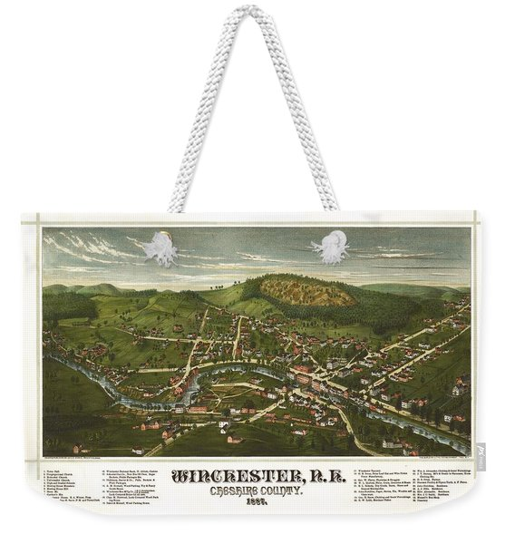 Winchester New Hampshire 1887 Weekender Tote Bag