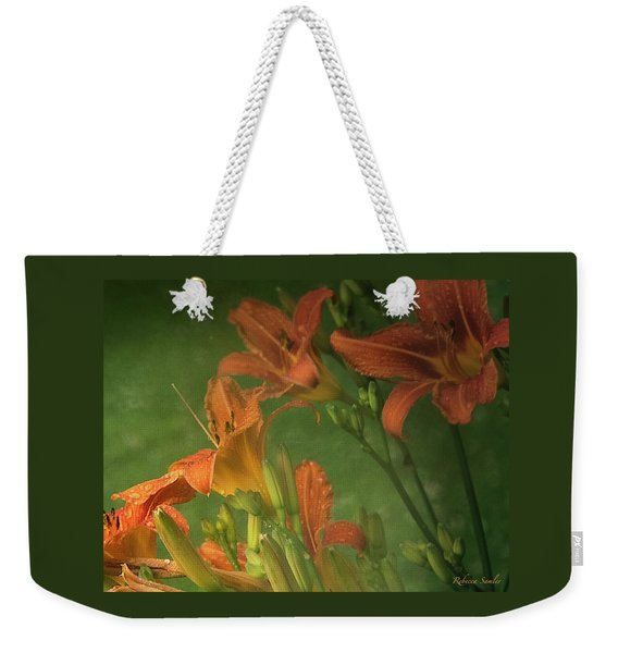 Wind Blown And Rain Spattered Weekender Tote Bag
