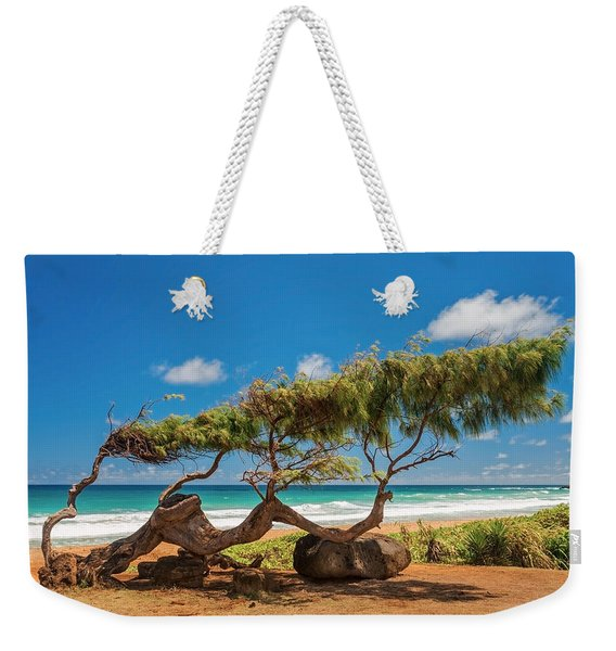 Wind Blown Tree Weekender Tote Bag