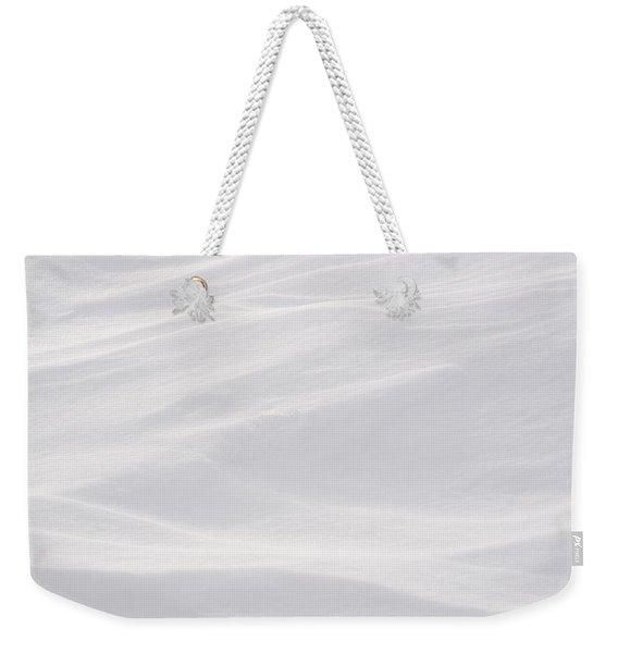 Wind Carved Snow Weekender Tote Bag