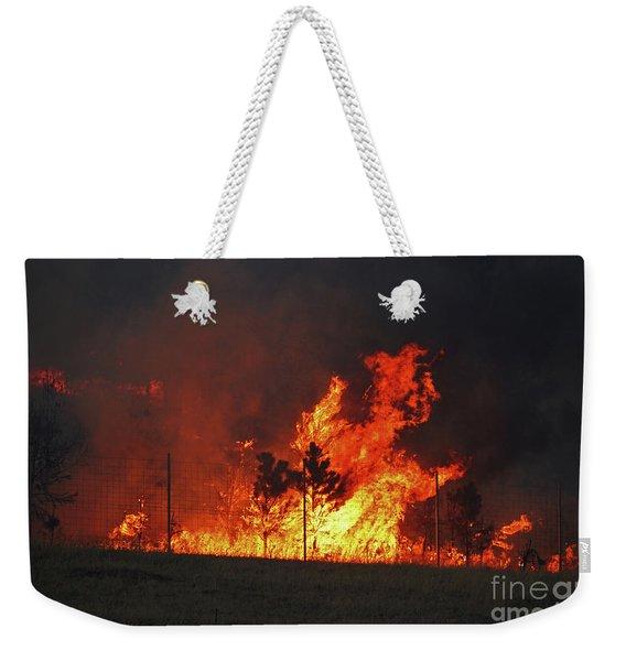Wildfire Flames Weekender Tote Bag