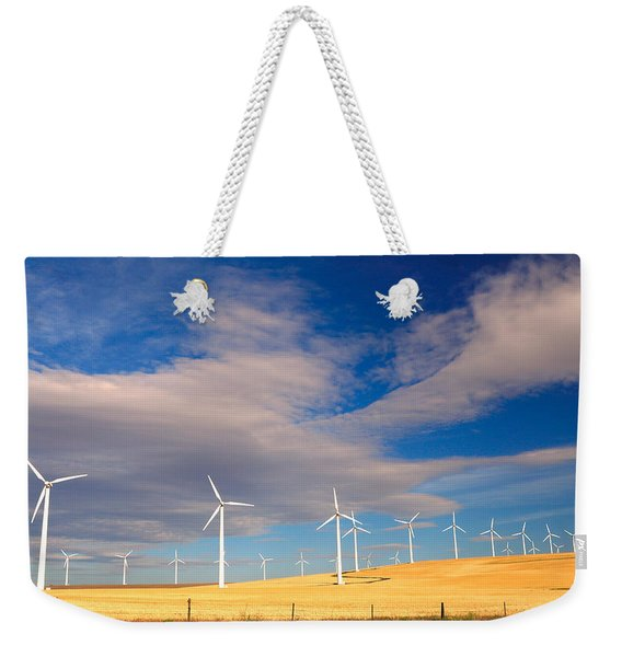 Wind Farm Against The Sky Weekender Tote Bag