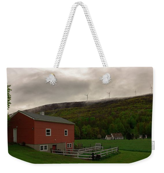 Wind Farm - Hancock Mass Weekender Tote Bag