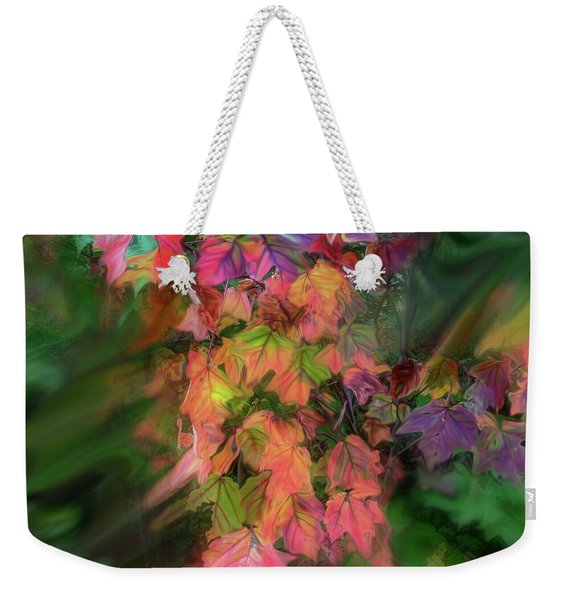 Weekender Tote Bag featuring the photograph Wind In The Maple by Wayne King