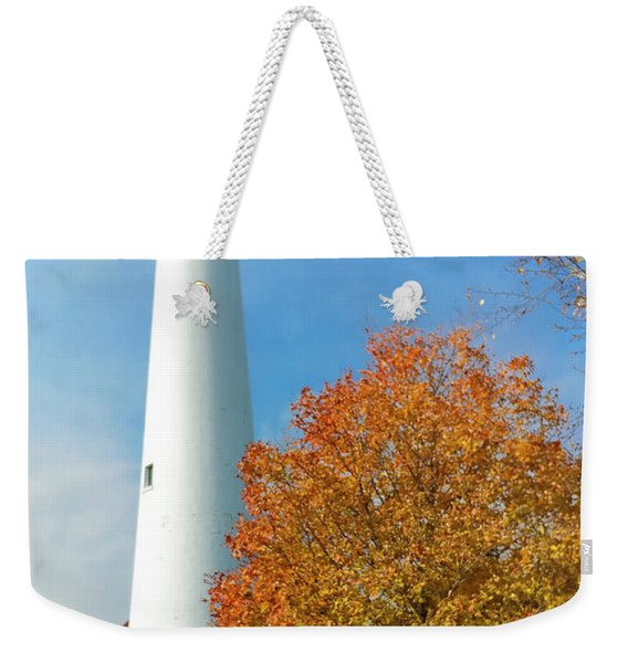 Wind Point Lighthouse In Autumn Weekender Tote Bag