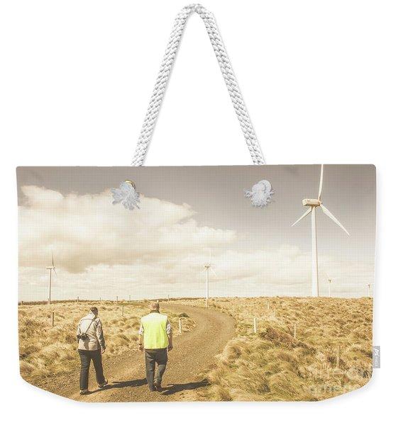 Wind Power Travel Tour Weekender Tote Bag