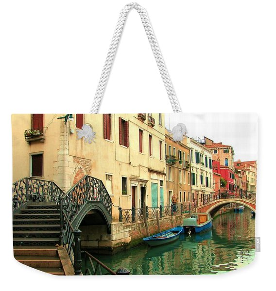 Winding Through The Watery Streets Of Venice Weekender Tote Bag