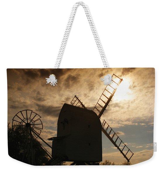 Windmill At Dusk  Weekender Tote Bag