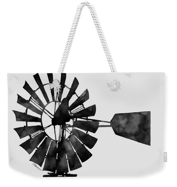 Windmill In Black And White Weekender Tote Bag