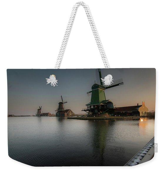 Windmill Sunrise Weekender Tote Bag