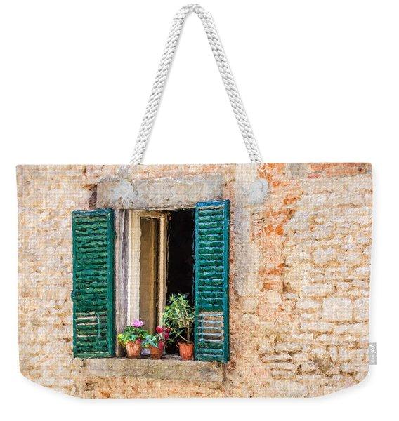 Window Flowers Of Tuscany Weekender Tote Bag