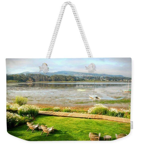 Weekender Tote Bag featuring the photograph Window Of The Back Bay Inn by Michael Hope
