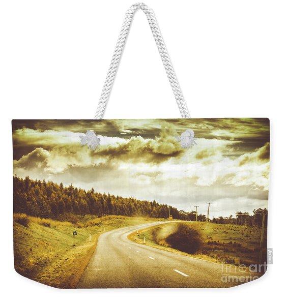 Window To A Rural Road Weekender Tote Bag
