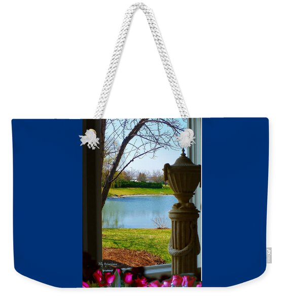 Window View Pond Weekender Tote Bag